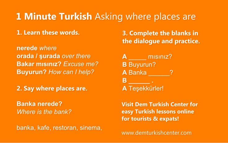 Asking where places are | Türkçe