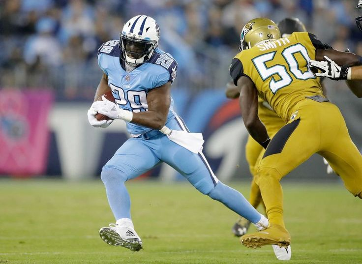 Thursday Night Football: Jaguars vs. Titans:    October 27, 2016  -  36-22, Titans   -     DeMarco Murray #29 of the Tennessee Titans runs with the ball during the first quarter of a game against the Jacksonville Jaguars at Nissan Stadium on Oct. 27, 2016 in Nashville.