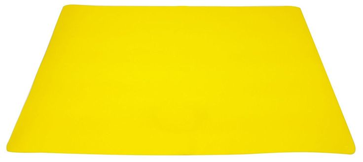 "Unique and Custom {15.74' x 22.32' Inch} Single Pack of Rectangle ""Non-Slip Grip Texture"" Extra Large Table Placemats Made of Flexible Silicone Rubber w/ Cool Bright Modern Simple Design [Yellow Color] * See this great image  : Food Service Equipment Supplies"