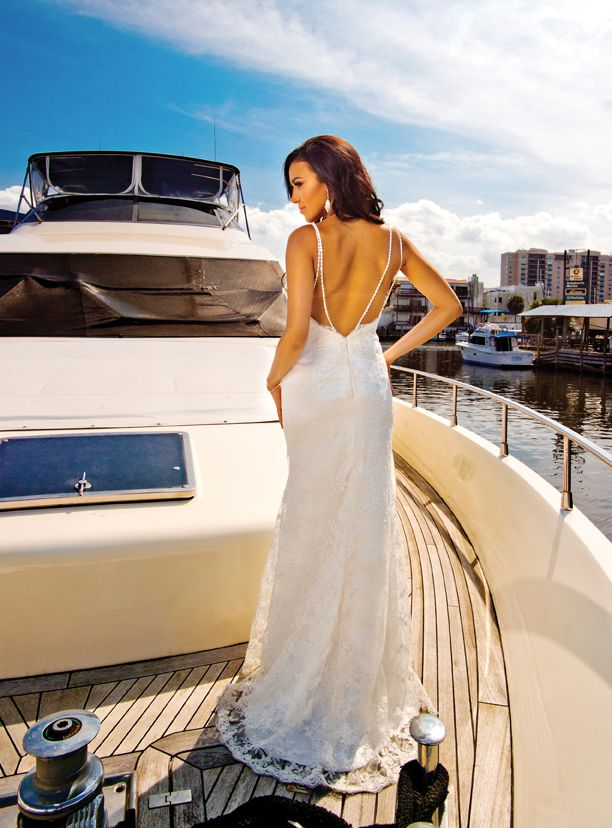 Summertime In New Orleans Summer Wedding Dress On A Boat Yacht