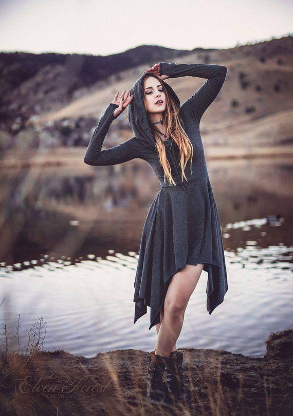 Wonderland Hooded Pixie Dress ~ Kapuzenversion ~ lange Ärmel und Daumenlöcher …   – Clothing to buy @_@