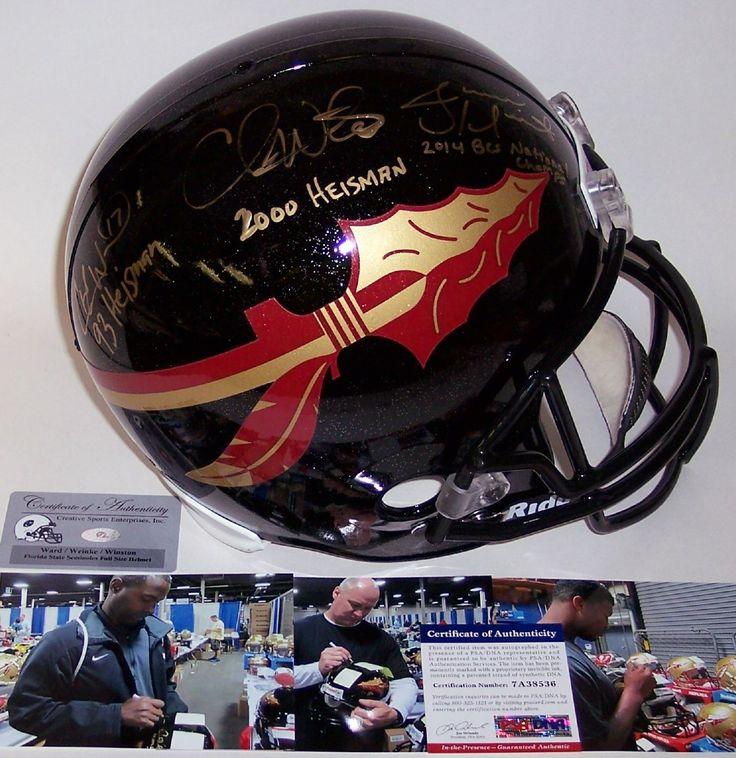 Jameis Winston / Charlie Ward / Chris Weinke - Autographed Full Size Riddell Football Helmet - FSU Seminoles