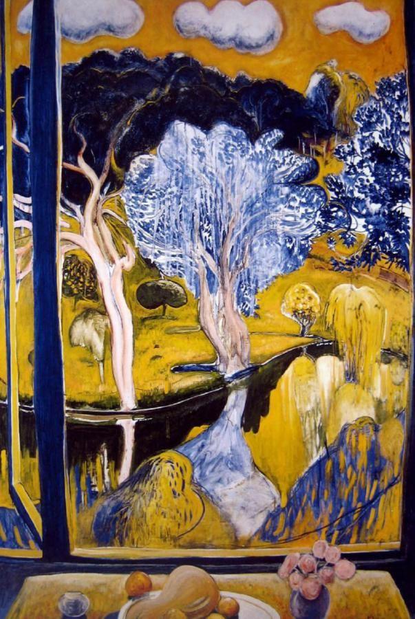 art & windows <3 The Pond at Bundanon - Brett Whiteley (Australian, 1939-1992) blue gums ...