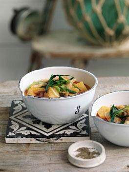 Bacalao and potato soup (Porrusalda Vasca)