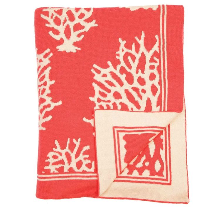 Wrap up with someone special! Coral Throw in Salmon and