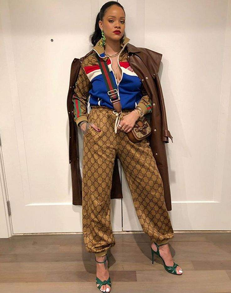 Rihanna Serves Up (Comfortable!) Outfit Envy in Head-to-Toe Gucci