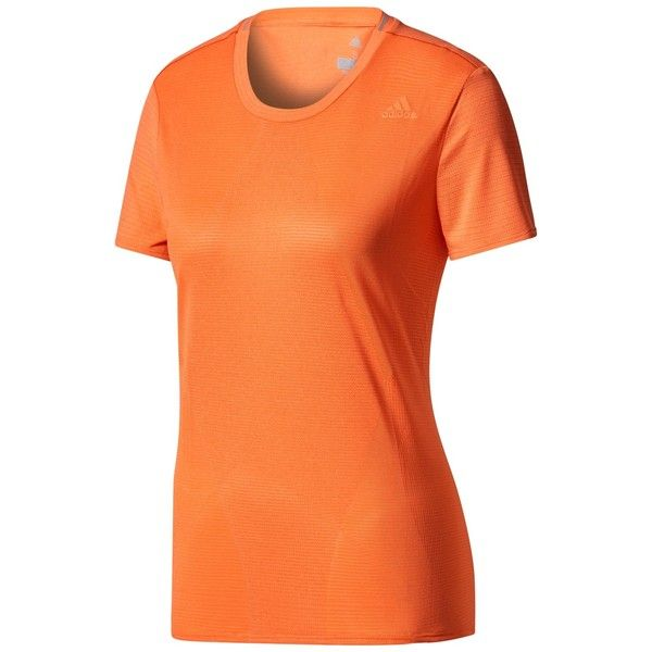 Adidas Supernova Regular Fit Running T-Shirt (£35) ❤ liked on Polyvore featuring activewear, activewear tops, adidas activewear, adidas and adidas sportswear
