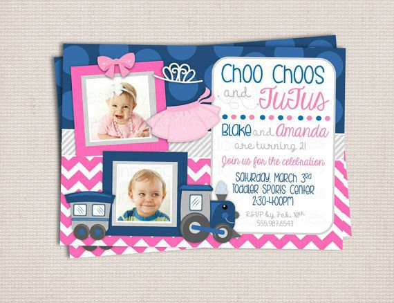 Adorable Navy and Pink Twins Choo Choos and by MonkeyDoodleParties
