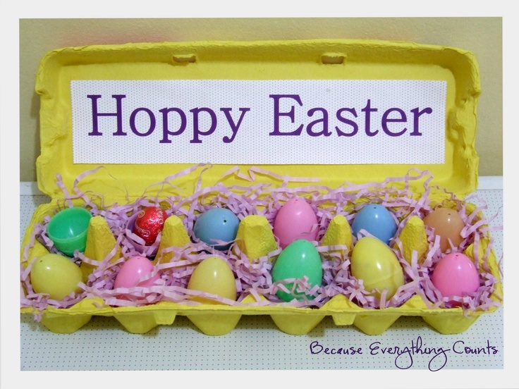 Easter Countdown by Because Everything Counts.  Fill the eggs with eggs, activities or trinkets