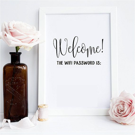 Customizable Guest Internet WiFi Password Sign - Write in your password! - Home…