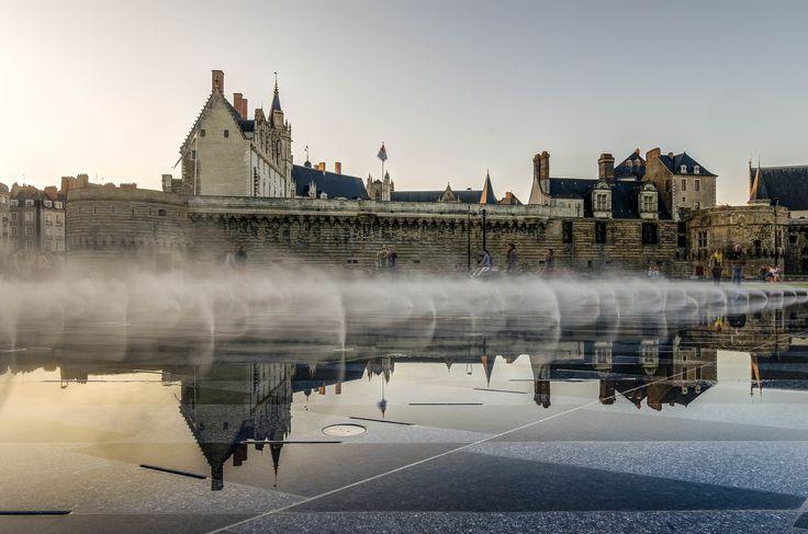 Le miroir d'eau, Nantes, France