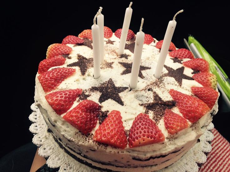 Chocolate cake with straberry