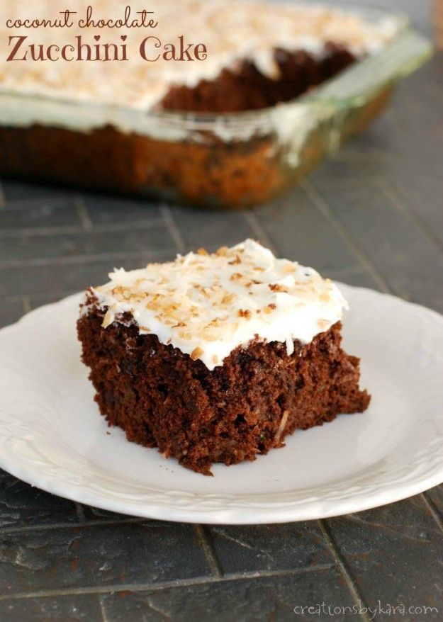This Coconut Chocolate Zucchini Cake is a must try recipe!