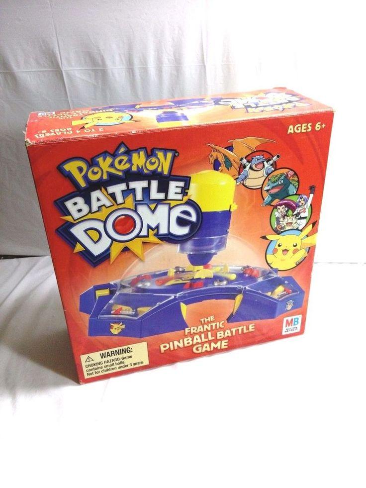 Pokemon Battle Dome The Frantic Pinball Battle Game Milton Bradley 2005  #MiltonBradley