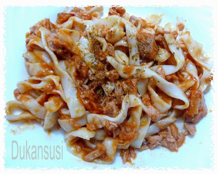 Recetas Dukan - Dukansusi: Tallarimis Pescanova con atún y tomate