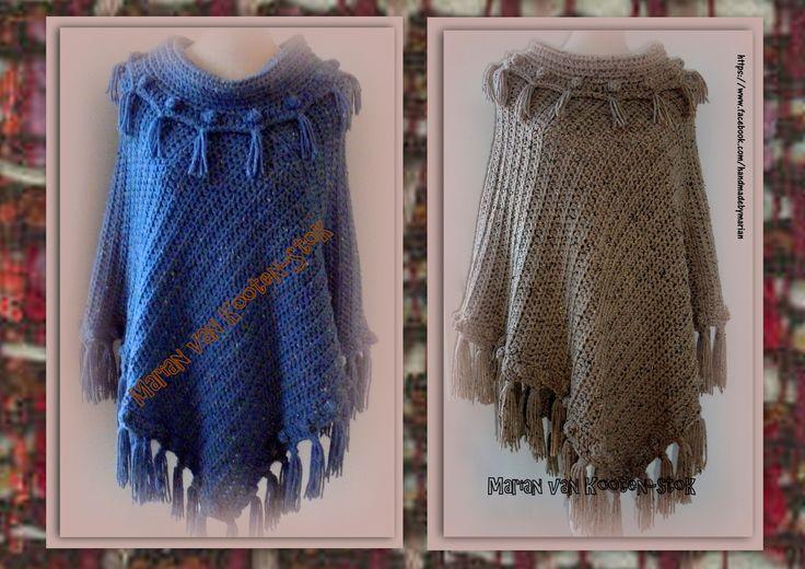 Patroon van poncho ´Lynn´ is er nu in meerdere maten. Het is gehaakt met naald 8 en met ca.600/700 gram (afhankelijk van de maat) Tweed van de Zeeman. Hier kan je het patroon vinden van de poncho https://www.facebook.com/handmadebymarian