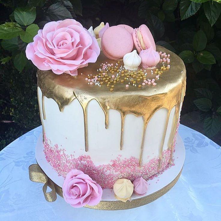 Gold Drip Cake | 50th Birthday Cake  – Geburtstagstorten