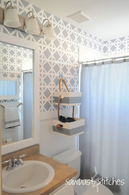 nautical bathroom stencil paint. 1000  ideas about Bathroom Stencil on Pinterest   Frosted window