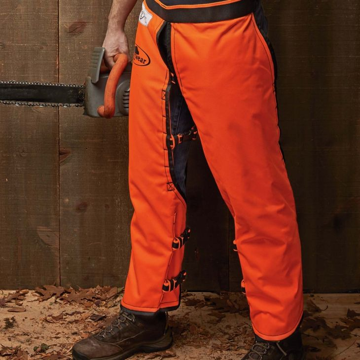 Safety Calf-Wrap Style Chainsaw Chaps smart pro loggers insist on leg protection
