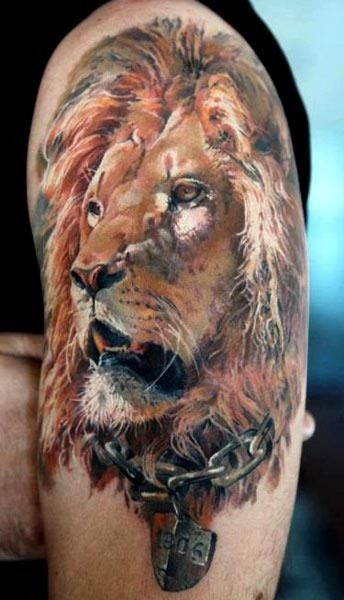 lion arm 3d tattoos egodesigns for him personal. Black Bedroom Furniture Sets. Home Design Ideas