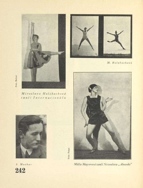 Miroslava Holzbachová, S. Machov, Milča Mayerová.