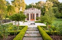 A spectacular folly, inspired by historic French and English design  Georgian  Neoclassical  Architectural Details  Grounds  Front Facade  Architectural Detail by Wade Weissmann Architecture Inc