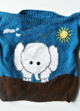Kaufe meinen Artikel bei #Mamikreisel http://www.mamikreisel.de/kleidung-fur-jungs/pullover-und-jacken-sonstige/18371267-gemutlicher-elefanten-pullover-strick