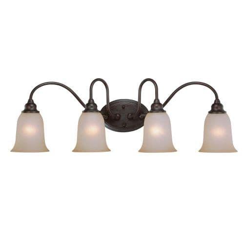 Jeremiah Lighting 26304 Linden Lane 4 Light Bathroom Vanity Light - 33 Inches Wide (Old Bronze), Gold