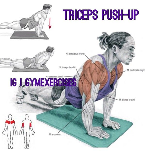 triceps push ups | Fitness | Pinterest