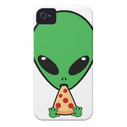 Alien Pizza iPhone 4 Case - diy cyo personalize design idea new special custom