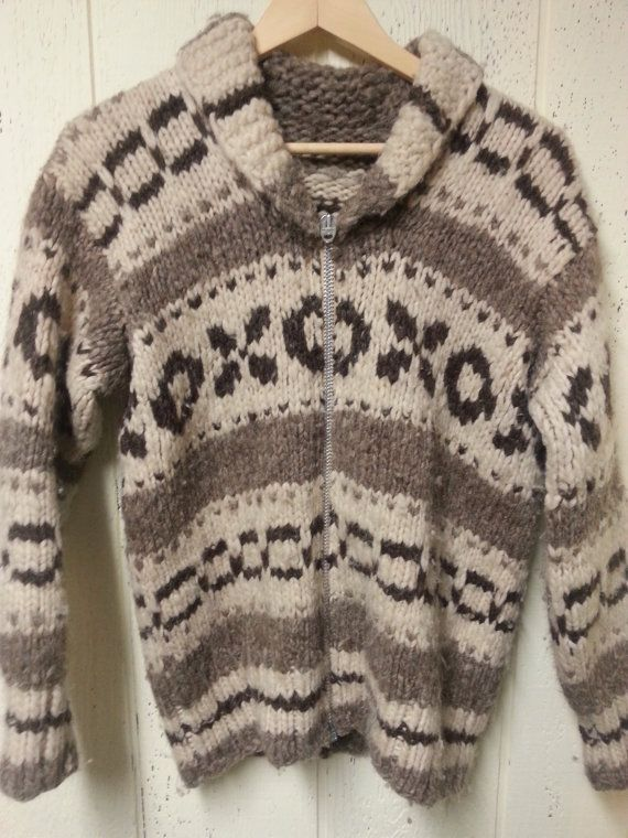 The perfect 70s hand knit cowihan style sweater coat with by vitch
