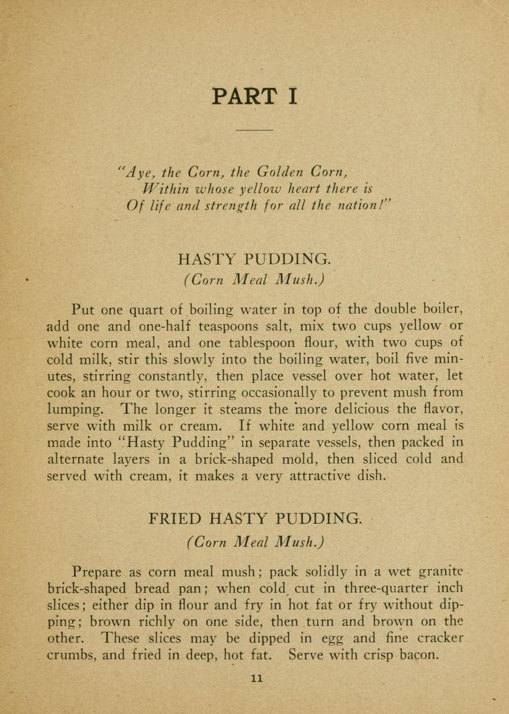 Hasty Pudding -- 1907