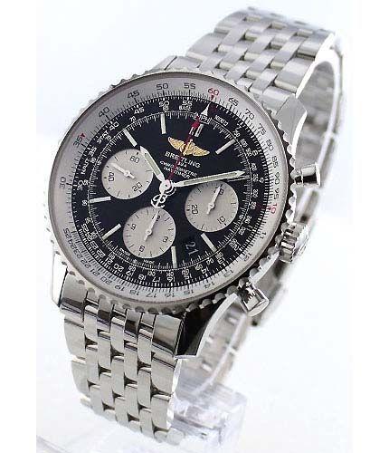 ブライトリングナビタイマー 01 クロノメーター クロノグラフ ブラック&シルバー メンズ A022B01NP -ブライトリング時計コピー
