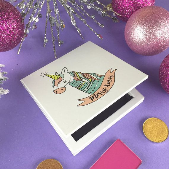 Unicorn Merry Christmas - Magnetic Makeup Palette #AD