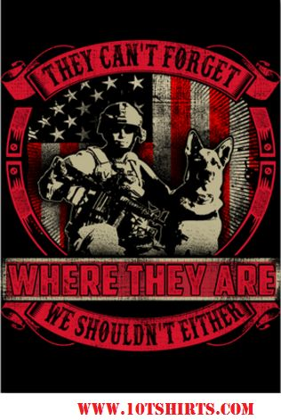 Remember everyone Deployed #REDFRIDAY Red Friday shirt, hoodie, and sticker that recognizes the K9s too! www.10tshirts.com for $6.00, $21.95 and $39.99 and 10% goes to charity!