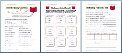 Classroom Freebies: 3 Free Dictionary Worksheets!