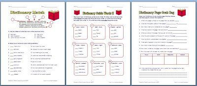 Classroom Freebies: 3 Free Dictionary Worksheets!