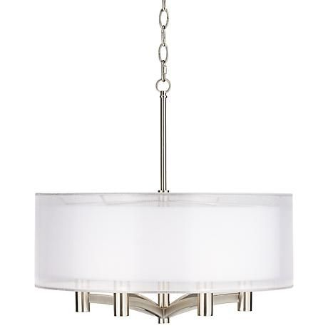 Caliari 6 Light 22 Wide Brushed Nickel Pendant