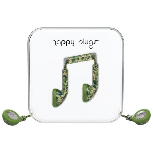Happy Plugs In-Ear Headphones with Mic - Camouflage