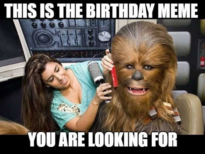 Birthday Star Wars Meme This Is The Birthday Meme You Are Looking For Funny Birthday Meme Funny Star Wars Memes Birthday Meme