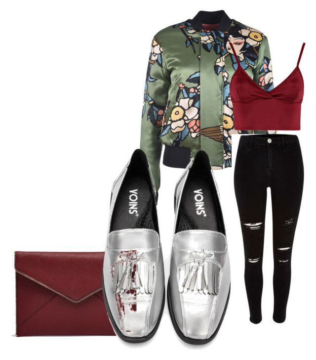 """""""shiny bomber"""" by missrorodu46 on Polyvore featuring mode, Rebecca Minkoff, Dsquared2 et Lipsy"""