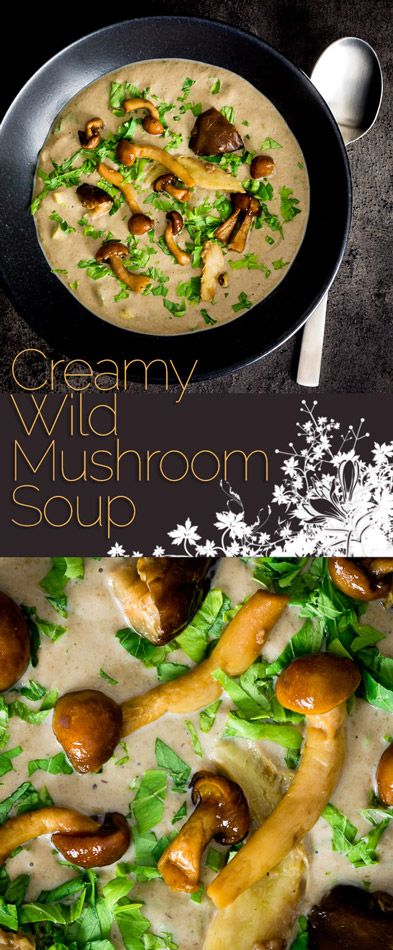 Using frozen mushrooms brings the wonderful autumnal flavours in this cream of wild mushroom soup within reach of every home cook! #soup #soupoftheday #souprecipes #vegetarian #vegetarianrecipes #vegetables #recipe #recipeoftheday #mushrooms