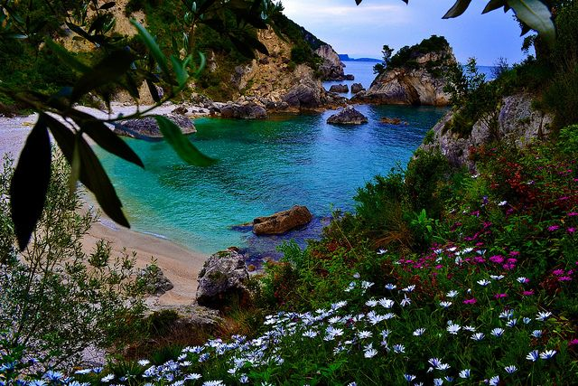 Piso Kryoneri Beach - Parga Greece	  by Christos Ntitoras (Ditoras)