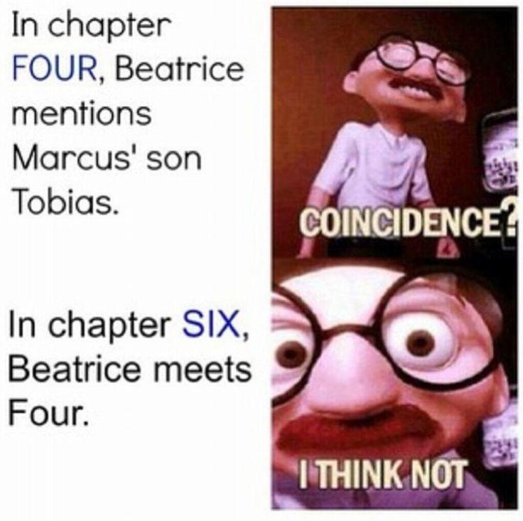 Tobias has six letters, Tris has four. Coincidence? I think NOT! Hahaha!!! Evil laugh