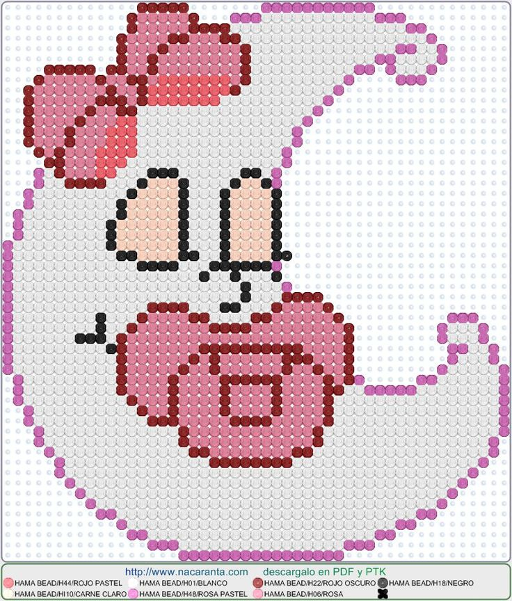 Luna ella EN HAMA BEADS, Perler Bead Patterns