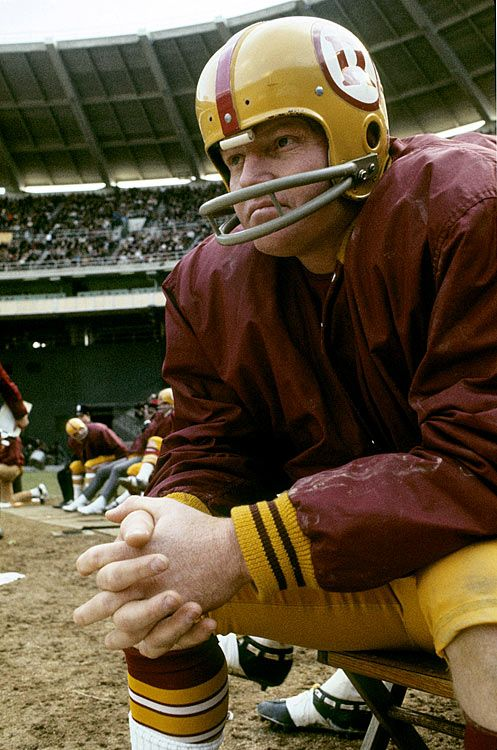 Sonny Jurgensen, Washington Redskins - when we were kids, my mom used to tell us Sonny was her boyfriend! Not quite sure how my dad felt about that...