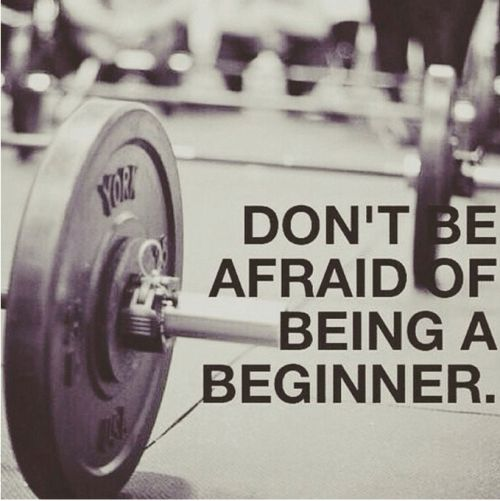 We were all beginners - embrace that first step