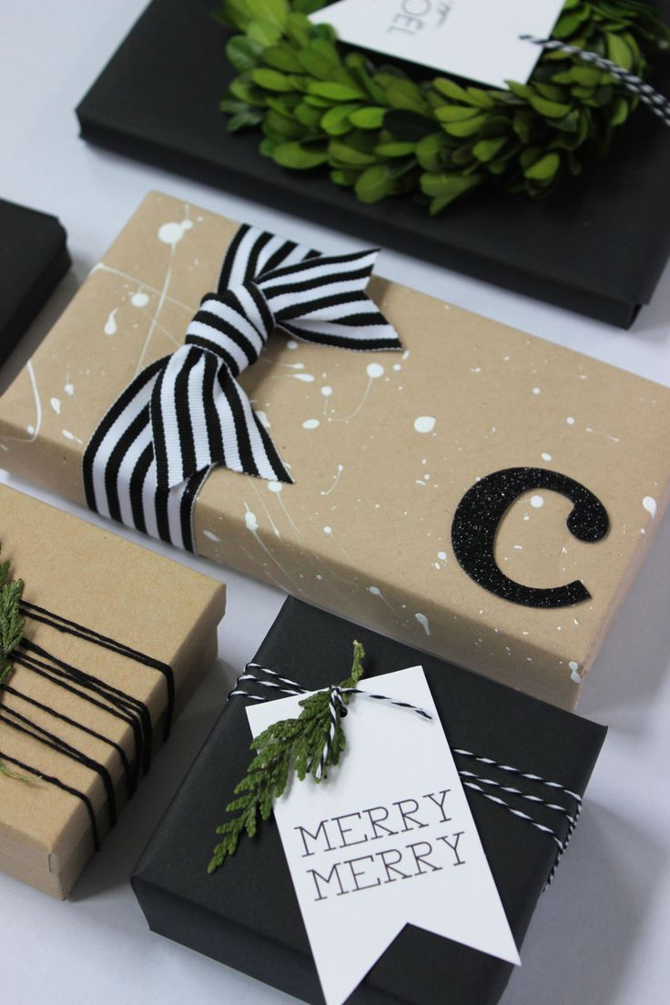 10 Clever + Unique Ways To Wrap Gifts with Brown Kraft Paper