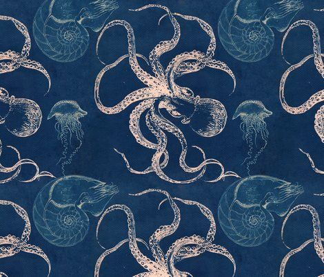 Octopus Jellyfish Nautilus Fabric Products Amp Diy I Love