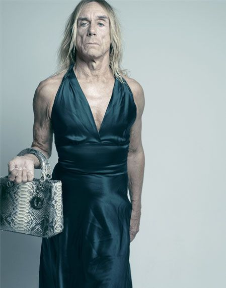 Iggy Pop in DiorMusic, Real People, Old Lady, Dresses, Pop Cans, Iggy Pop, Be A Woman, Fashion Photography, Iggypop